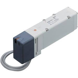 VQ5*5*, řada 5000, Elektromagnetický ovládaný 5/2 a 5/3 ventil, individuální elektrické připojení, montáž na základovou desku (Nová řada)