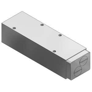 VVQ5000-20A-5, Zwischenplatte Drosselrückschlagventil für VQ5000, Externe Verdrahtung
