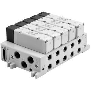 VV5Q51-F, 5000 Series, Base Mounted Manifold, Plug-in, D-sub Connector