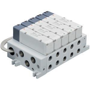 VV5Q51-L, Serie 5000 Mehrfachanschlussplatte mit interner Verdrahtung, Flanschversion, Anschlusskabel