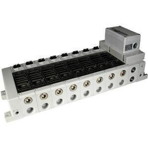 VV5Q51-S, Serie 5000 Mehrfachanschlussplatte mit interner Verdrahtung, Flanschversion, serielle Übermittlungseinheit