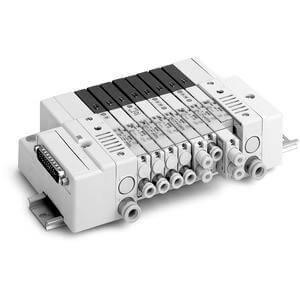 SS5Q23-F, řada 2000, Vícenásobná připojovací deska - interní prodrátování, D-sub konektor