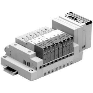 SS5V2-16S3, Serie 2000 Mehrfachanschlussplatte Kassettenversion, serielle Verdrahtung mit spezifischem Ausgang