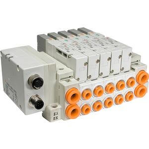 SS5V1-W16S*, 1000 Series, Cassette Base Manifold, Decentralized Serial Wiring