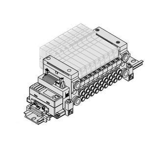 VV5Q11-SB, řada 1000, Vícenásobná připojovací deska - interní prodrátování, jednotka sériového přenosu dat EX510