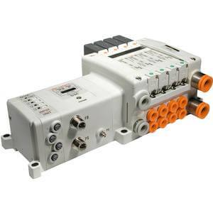 VV5QC11-S, řada 1000, Vícenásobná připojovací deska - interní prodrátování,  jednotka sériového přenosu dat s I/O modulem