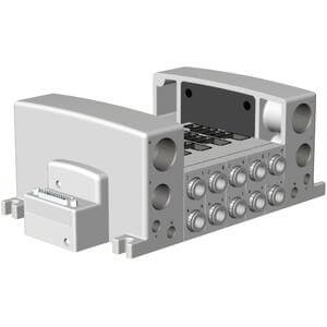 VV5QC51-**FD*, Flanschversion, interne Verdrahtung, D-Sub Stecker
