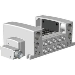 VV5QC51-**M, Flanschversion, interne Verdrahtung, Multipolstecker
