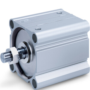 C(D)Q2, Compact Cylinder, Double Acting, Single Rod, Large Bore w/Auto Switch Mounting Groove