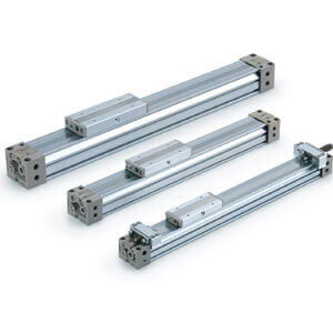 MY1B-Z, Mechanical Joint Rodless Cylinder, Basic Type, w/High Load Shock Absorber & Adjustment Bolt, H Series