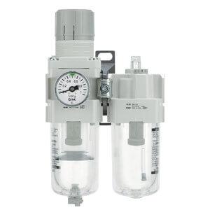 AC10A-40A-A, Wartungsgeräte (neue FRL) in Modulbauweise, Filter Regler + Druckluftöler
