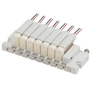 SS073, Mehrfachanschlussplatte für 3/2-Wege-Magnetventile S070, Flanschversion / Rohrversion