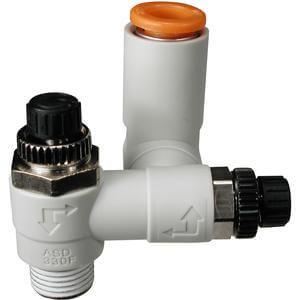 ASD*FM, Doppel-Drosselrückschlagventil, einschraubbar mit Steckverbindung, Universalausführung, für Langsamlauf-Zylinder