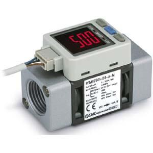 PFMB7501/102/202, Digitální snímač průtoku, pro inertní plyny a stlačený vzduch, 2-barevný displej, s vyhodnocovací jednotkou