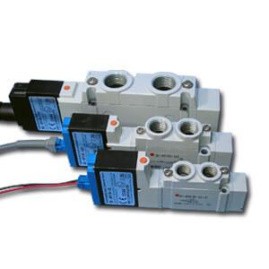 52-SY*40, 5/2-, 5/3-Wege-Elektromagnetventil ATEX-Ausführung / Flanschversion