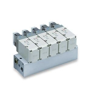 VV3P7, Řada VP700, Vícenásobná připojovací deska - pro elektromagneticky ovládané 3/2 ventily