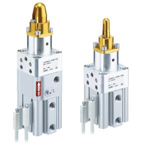 C(L)KQG*32, Zentrier- und Klemmzylinder, Eingebauter Standard-Magnetring, Kompaktausführung