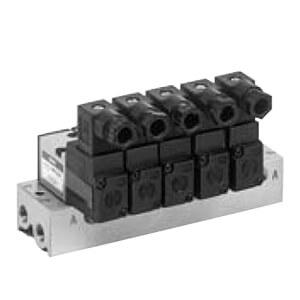 VV3K3-40/42, Řada VK300, Vícenásobná připojovací deska - pro elektromagneticky ovládané 3/2 ventily, montáž na základovou desku
