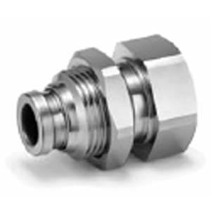 KQB2E, Metall-Steckverbindungen, Zoll UNF NPT, Schott-Steckverschraubung