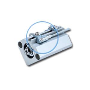 BQ-2, Držák pro snímač polohy, montáž na lištu, podložka pod snímač (pr.32 až pr.160)