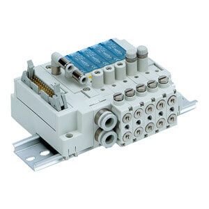 SS3J3-V60G, Interne Verdrahtung, PC-Wiring mit Spannungsversorgungsklemme, Vakuum-Blasventil mit Drossel