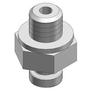 ZP2A-M01/02*, Zubehör für Vakuumsauger ZP2-B**MU/MB - Außengewinde