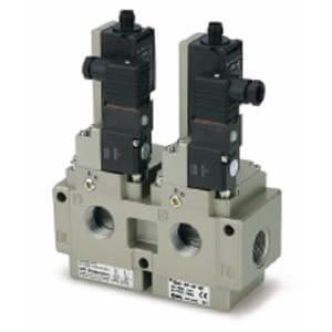 VG342-X87, Elektromagnetický přímo ovládaný 3/2 ventil, dvojité odvzdušnění zbytkového tlaku, ISO13849-1