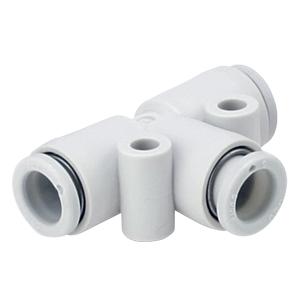 KQ2T*-00, Steckverbindung weiß - T-Steckverbindung