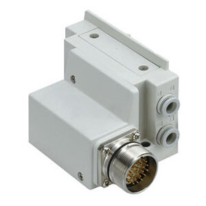 SS5Y7-12M, 7000 Series Manifold, Circular Connector (IP67), Top Ported