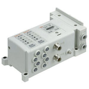 SS5Y7-10S, 7000 Series Manifold for Series EX250 Integrated (I/O) Serial Transmission System (IP67), Side Ported