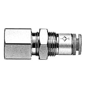 KCE, Nástrčná spojka se zpětným ventilem, průchodka s nástrčnou spojkou a vnitřním závitem