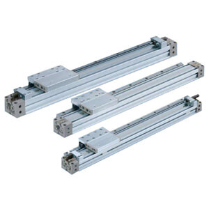 MY1H-Z, Mechanically Jointed Rodless Cylinder, Linear Guide Type, w/High Load Shock Absorber & Adjustment Bolt, Series H