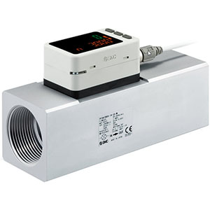 PF3A7*H-L, Digital Flow Switch for Large Flow, 3-Colour Display, IO-Link