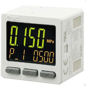 PSE300A, Digital tryckvakt Monitor 3-skärms 3-färgs, ett Ingång/2 Ut + analog, IP40