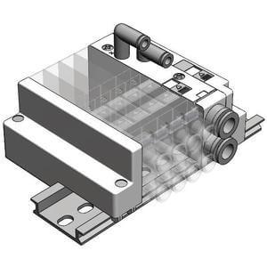 SS5J3-60, Externe Verdrahtung, Mehrfachanschlussplatte mit individueller Verdrahtung