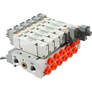 SS5X5-**P, 5000 Series, Bar Manifold, Flat Cable Type
