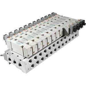 SS5X7-**P, Řada 7000, Vícenásobná připojovací deska - hliníková, konektor pro plochý kabel