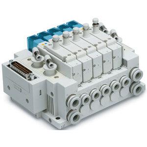SY3A*R, Elektromagneticky ovládaný 5/2 a 5/3 ventil pro vakuum, vestavěný škrticí ventil