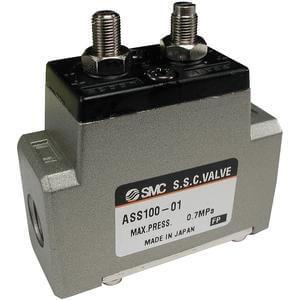 ASS, Bezpečnostní ventil se škrticím a zpětným ventilem, kovové provedení se závity (metrický)