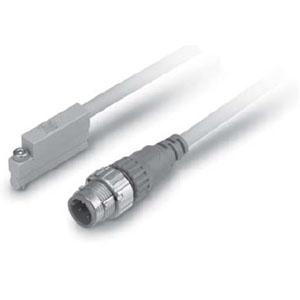 P3DWASC/P3DWASE, 2-farben-Anzeige für starkes Magnetfeld, Direktmontage, Eingegossene Kabel mit Stecker