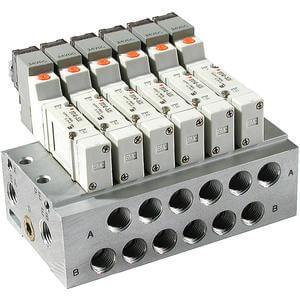 SS5Y3, Serie 3000 Stabförmige Mehrfachanschlussplatte, individuell verdrahtet