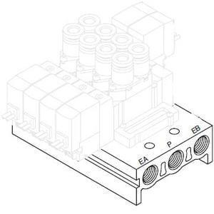 SS5Y5, řada 5000, Vícenásobná připojovací deska - hliníková, individuální elektrické připojení