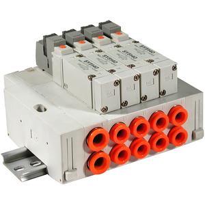 SS5Y5-45, Serie 5000 Mehrfachanschlussplatte Kassettenversion, DIN-Schienen-Montage, individuelle Verdrahtung