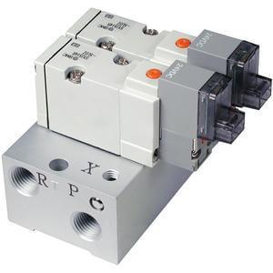 SS3YJ5, Serie 500 Mehrfachanschlussplatte externes Pilotventil
