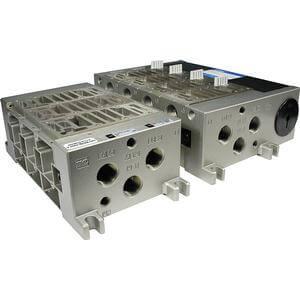 VV5FR4, Vícenásobná připojovací deska, pro ventily řady VFR4000 (metrická)