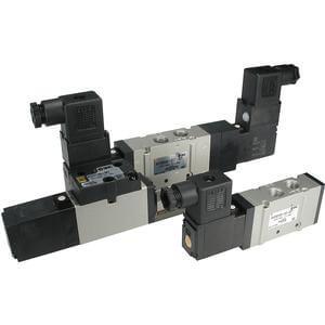 VFS2000, 5/2-, 5/3-Wege Pilotventil, Ausführung Rohrversion und Flanschversion, metrisch