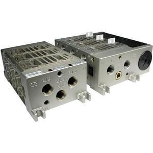 VV5FS4, Vícenásobná připojovací deska - hliníková, pro ventily řady VFS4000 (metrická)