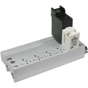 VV3Q12, Serie 100 Mehrfachanschlussplatte, mit externer Verdrahtung