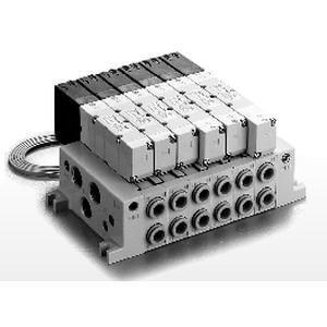VV5Q45-C, řada 4000, Vícenásobná připojovací deska - individuální elektrické připojení, ventily s konektorem