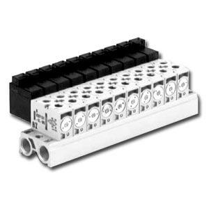 VV4QD1, Serie 1000 Mehrfachanschlussplatte, Externe Verdrahtung
